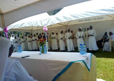 Novices entertaining during St Francis day